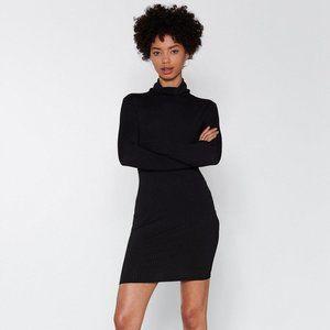 nasty gal mock neck dress size xxs